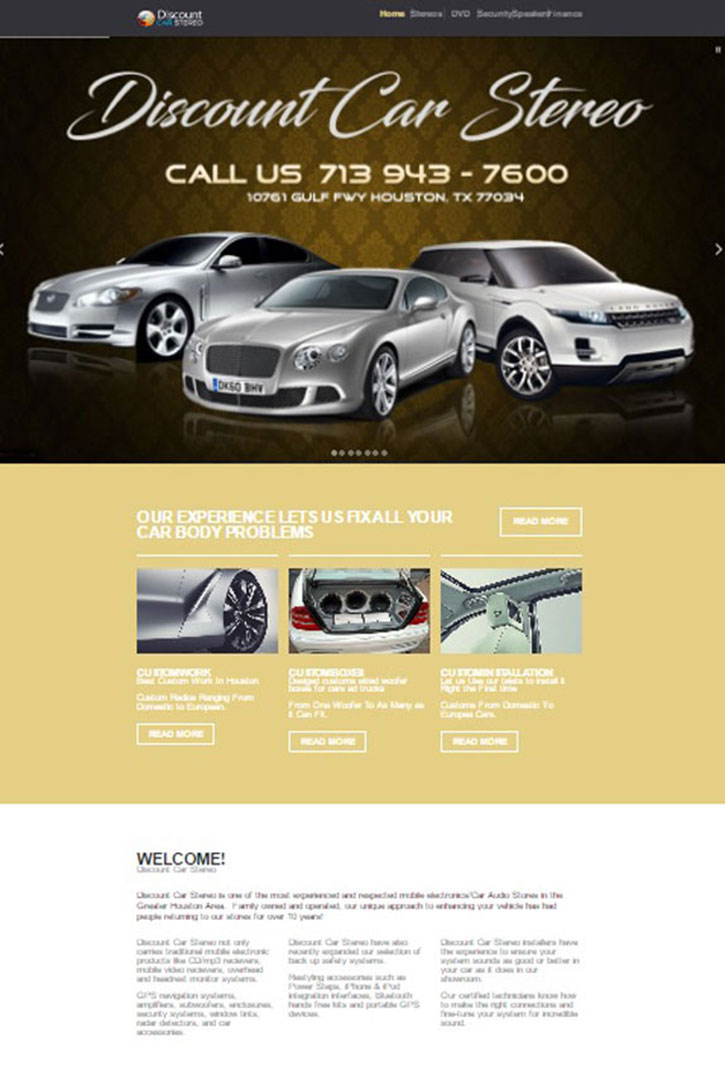 Web-Design-discount-car-stereo-homepage